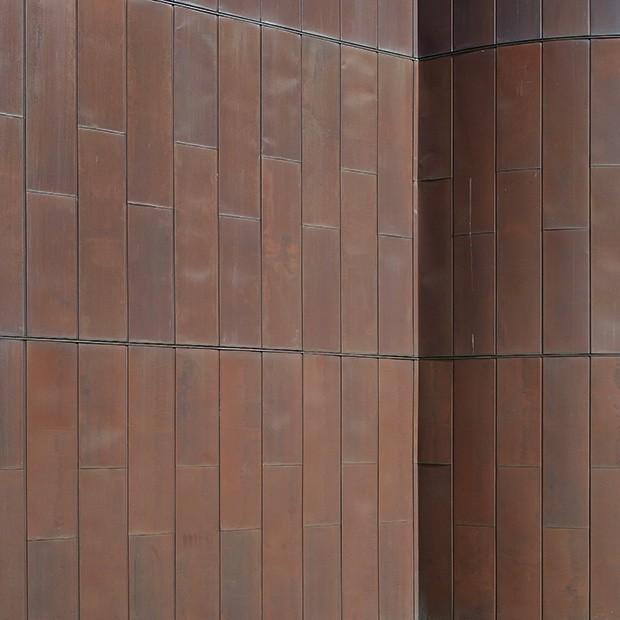 Copper Wall Cladding : Texture copper wall cladding square