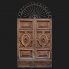 Door photo 003: Old Italian wooden front door