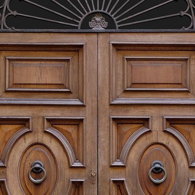 Door Photo 003 Old Italian Wooden Front Door Square Texture