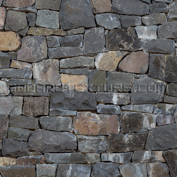 Rubble Stone Wall : Stone texture basalt drywall cladding square
