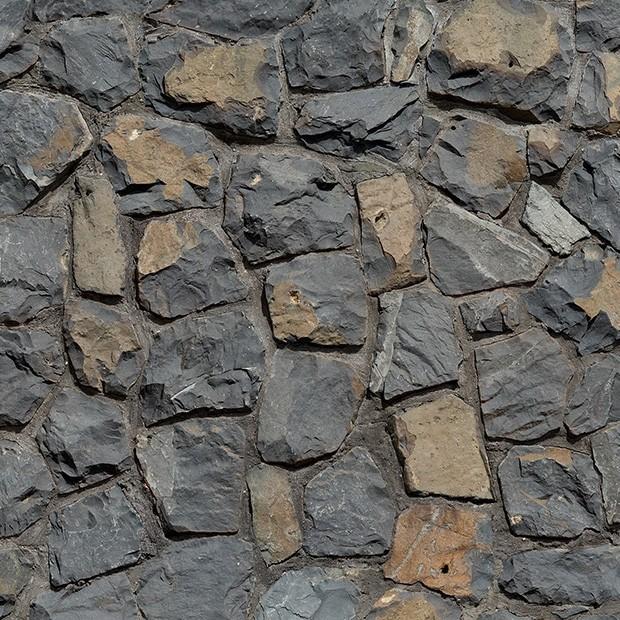 Basalt Stone Wall : Stone texture basalt rubble mortared wall square
