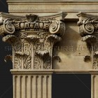 Architectural detail 001: Renaissance composite pilasters - free sample 100% proof (3000px)
