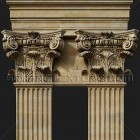 Architectural detail 001: Renaissance composite pilasters - free sample cropped pilaster detail!