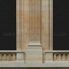 Architectural detail 003: Classical facade with corinthian pilasters 100% proof (2000px)