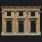 Architectural detail 003: Classical facade with corinthian pilasters full facade detail