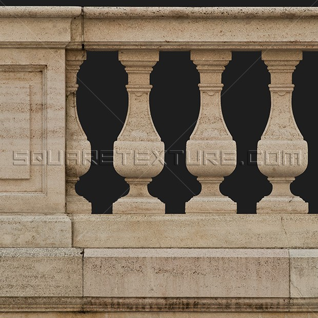 cropped balustrade