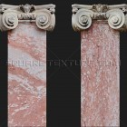 Architectural detail 005: Neoclassical pink marble ionic pilasters 100% proof (1800px)