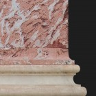 Architectural detail 005: Neoclassical pink marble ionic pilasters 100% proof (6000px)