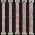 Architectural detail 005: Neoclassical pink marble ionic pilasters