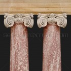 Architectural detail 006: Classical pink marble ionic columns 100% proof (2000px)