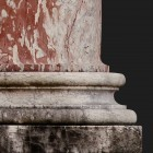 Architectural detail 006: Classical pink marble ionic columns 100% proof (7200px)