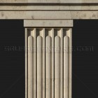 Architectural detail 008: Fluted secession stone columns 100% proof (2000px)