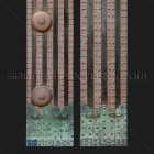 Architectural detail 009: Japanese gate timber posts