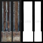 Architectural detail 010: Japanese timber gate post full image & alpha