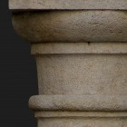 Architectural detail 011: Stylized medieval stone columns 100% proof (4000px)