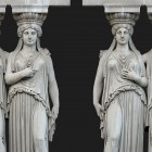 Architectural detail 012: Classical portico stone caryatids