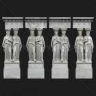 Architectural detail 012: Classical portico stone caryatids full caryatids photo