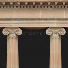 Architectural detail 014: Classical sandstone ionic portico 100% proof (2400px)