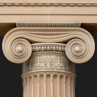 Architectural detail 014: Classical sandstone ionic portico 100% proof (8000px)