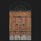 Door photo 004: Old Italian timber entrance door