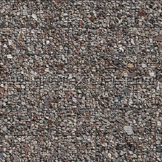 Stone Texture 005 Recycled Gabion Wall Square Texture