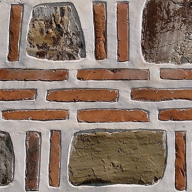 Contrast Between Stone And Plaster Finish: Stone Texture 009: Brick, Stone And Plaster Wall
