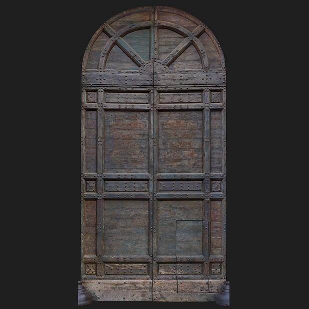 Door Photo 009 Historic Italian Wooden Front Door