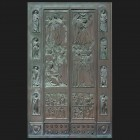 Door photo 010: Old historic bronze door in Florence, Italy door photo