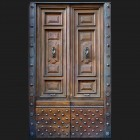 Door photo 038: Old Italian wooden entry door
