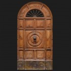 Door photo 001: Old wooden entrance door - free sample